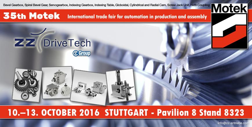 Motek 2016 - 10.-13. October 2016 Stuttgart - Pavilion 8 Stand 8323